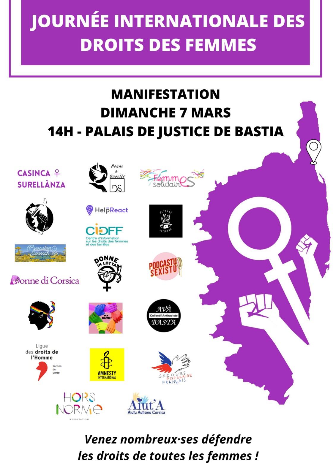 Evénements à venir : Journée Internationale pour les droits des femmes …