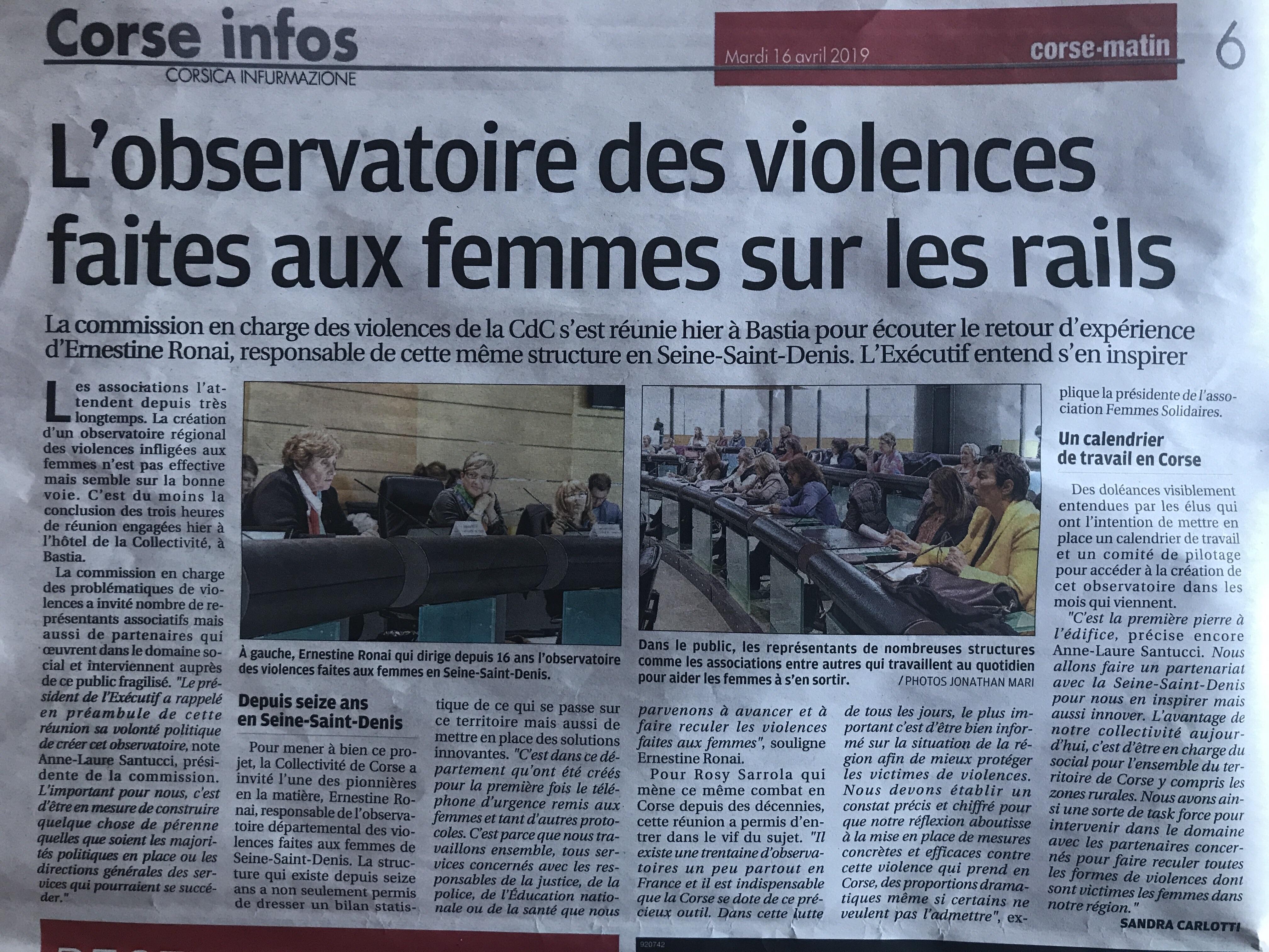 """Lire ou relire l'article """"L'observatoire des violences faites aux femmes sur les rails"""""""